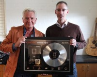 Iva Davies with George Ash, President, Universal Music Asia Pacific