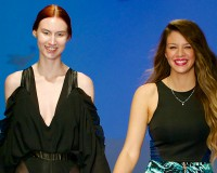 Jessica Moro (right) winner of Top Student, Eveningwear and Costume categories - Photography by Stefan Gossati