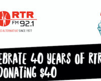 RTRFM's DONATION DRIVE $40 for 40