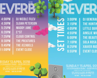 REVERB FESTIVAL Playing times are here!