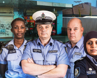 BEHIND THE BLUE LINE Community policing