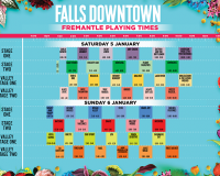 FALLS DOWNTOWN Download playing times HERE