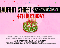 BEAUFORT STREET SONGWRITERS CLUB Celebrating four years