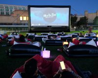 MOV'IN BED World's biggest outdoor bed cinema heading west