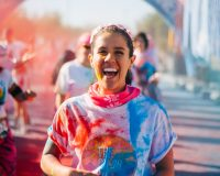 THE COLOR RUN Rainbow road